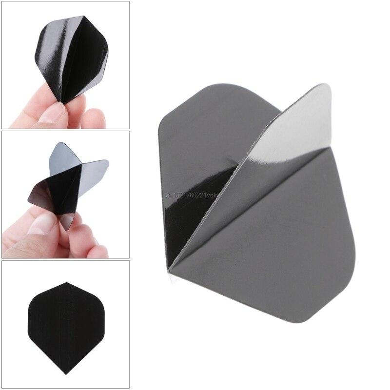 30 Pcs High Quality Simple Pure Black PET Dart Flights