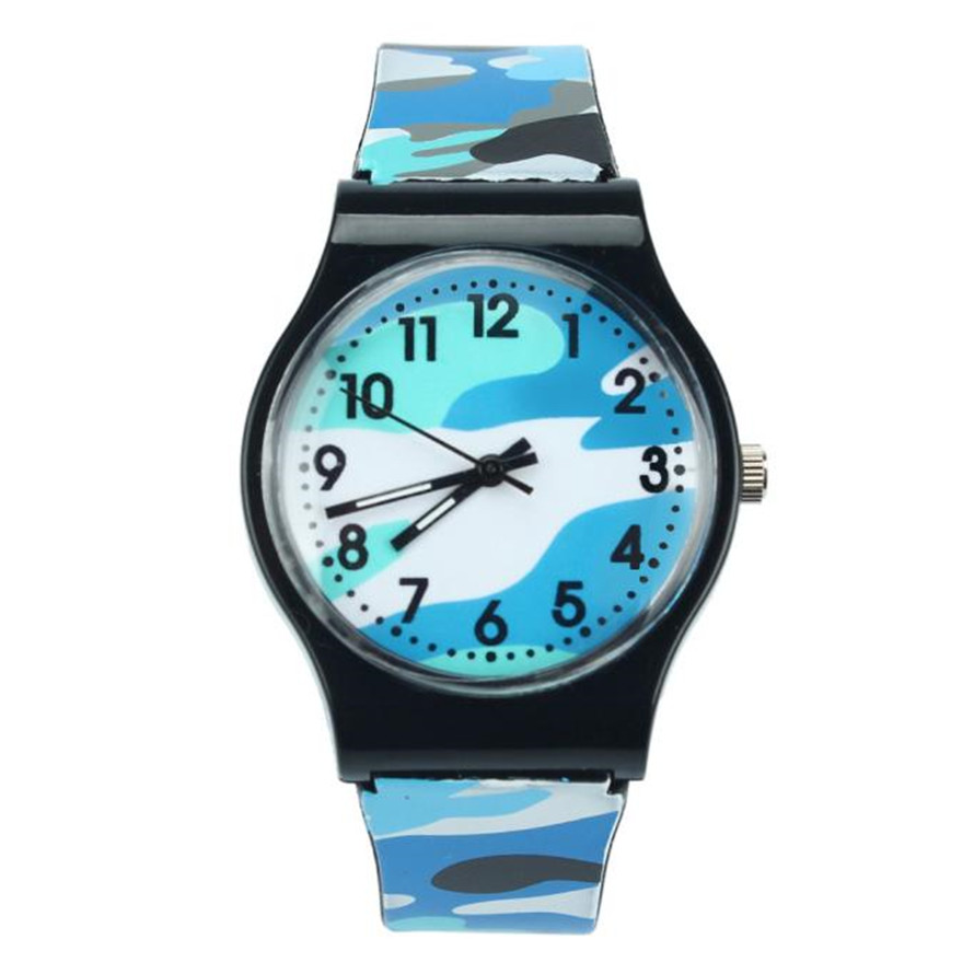 New Fashion Camouflage Children Kids Watch Quartz Wristwatch For Girls Boy Blue Watches Reloj Mujer Watches Dropshipping Hot
