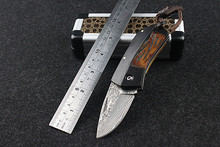 Navajas Promotion 2016 New Arrival Popular Outdoor Folding Knife Self-defense Damascus Boar Survival High Hardness Wild Fruit