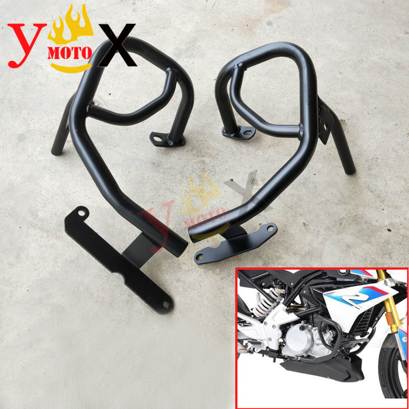 Motorcycle Naked Bike Crash Bar Engine Guard Frame Protector Bumper Slider Fairing Cover For BMW <font><b>G310R</b></font> G310GS 2016 207 Black image