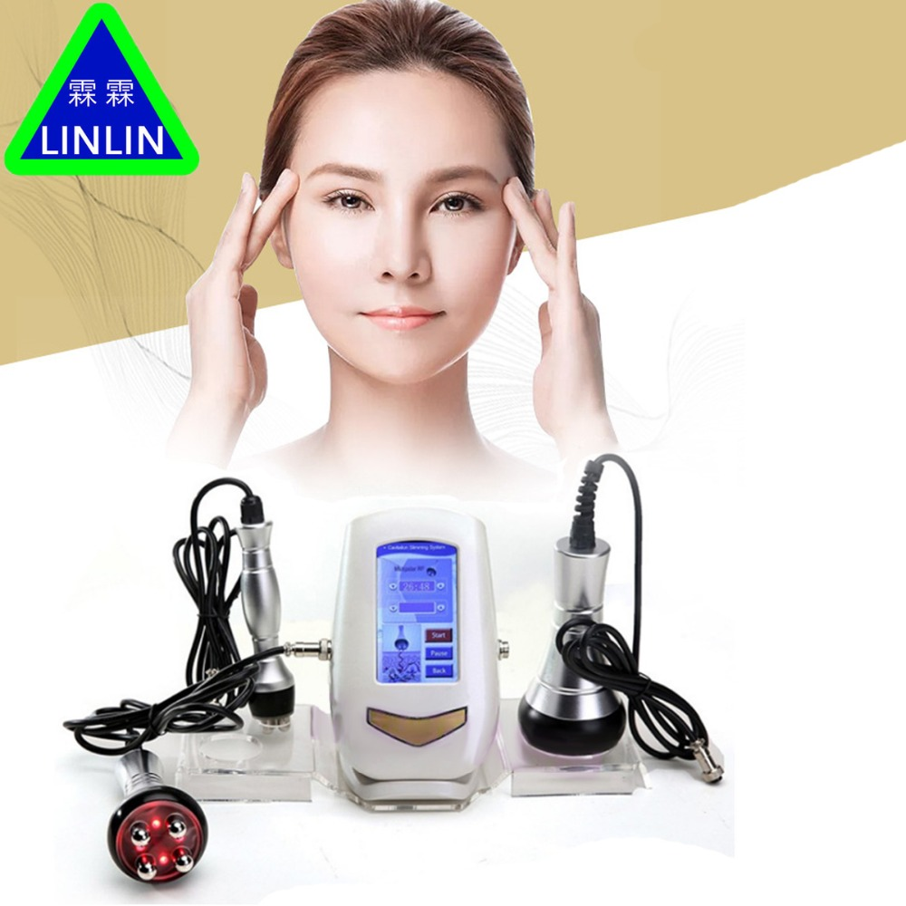 LINLIN 40K fat detector RF multipole radio frequency Ultrasound Fat Explosion Weight Loser Facial Cosmetic Apparatus