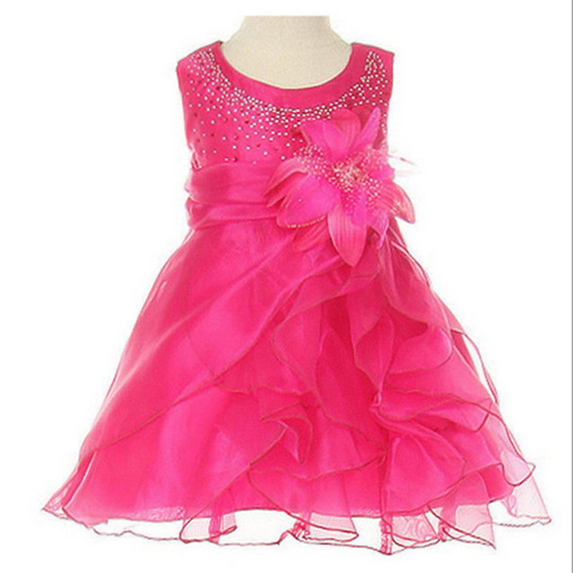 Retail Kids Girls Flower Dress for Party and Wedding Bridesmaid Floral Girl Princess Dress Ball Gown Prom Formal Dress 0-2 yrs