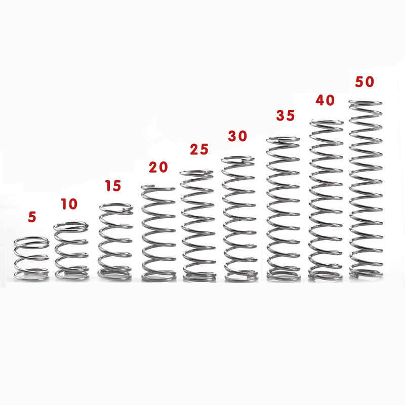 10Pcs 0.4mm Wire Diameter 12mm OD Stainless Steel Compression Pressure Spring