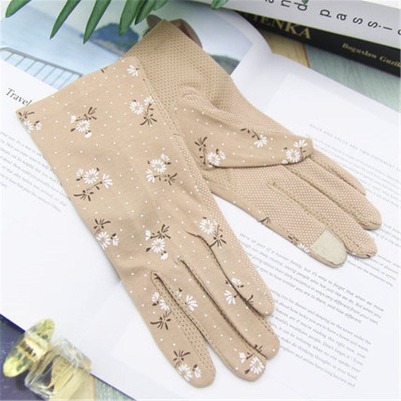 Sunscreen Gloves Ladies Thin Section Spring Stretch Cotton Summer UV Protection Summer Short Spring Driving Gloves Fsst 096 5 in Women 39 s Gloves from Apparel Accessories