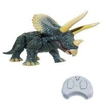 חידוש סיטונאי Emulational שלט רחוק מיני טריצרטופס דינוזאור בעלי החיים צעצוע מצחיק צעצוע צעצוע ילד מתנת יום הולדת