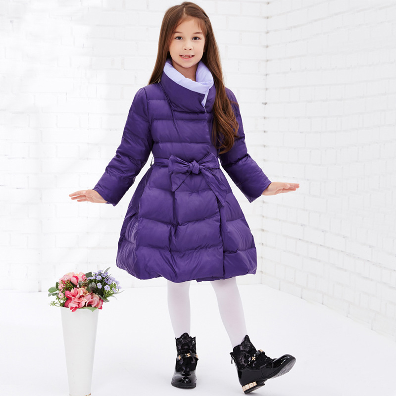 ad000cfa0 Children Winter Jackets for Girls Winter Long Slim Duck Down ...