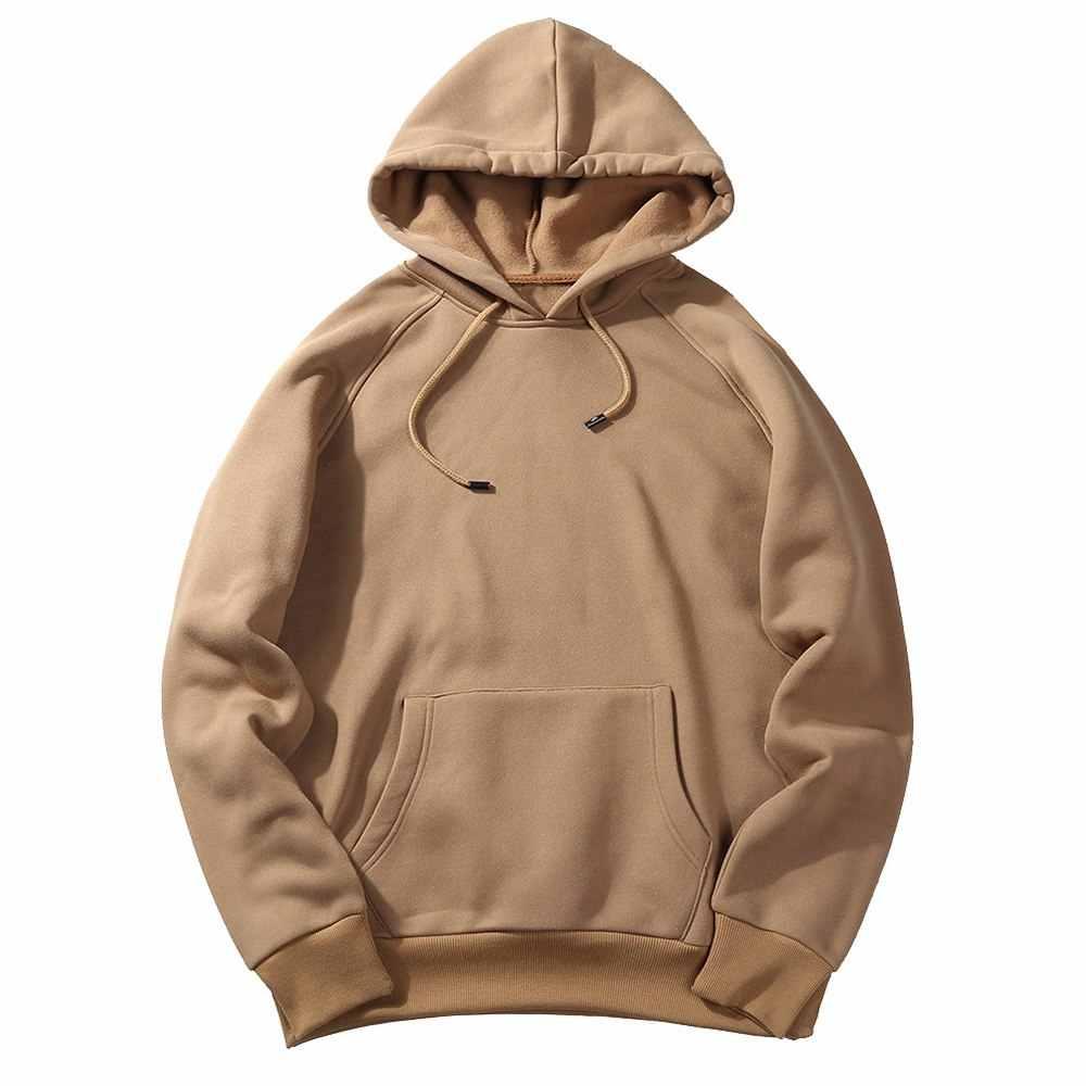 SHUJIN Mannen Lente Truien Sweatshirts Fashion Solid Fleece Heren Kleding Casual Zakken Sweatshirt Trui Hip Hop Streetwear