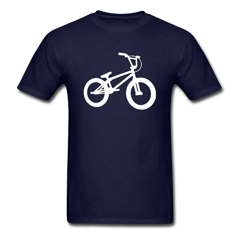 T Shirt Logo Crew Neck Men Bmx Biker Silhouette Fashion Short T Shirts ...