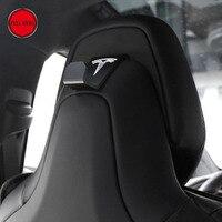 1 Pc Car Seat Back Headrest Mount Hanger Holder Storage Hook Clip With Tesla Logo For