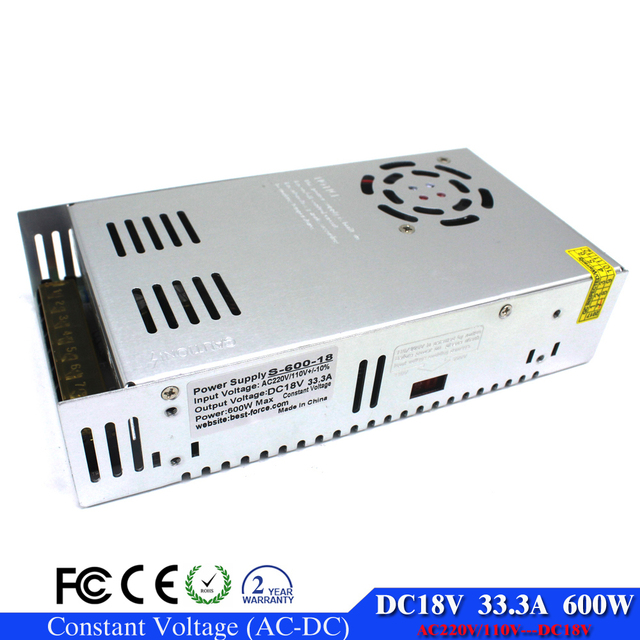 Single Outut 600W 33.3A 18V LED Switching Switch Power Supply ...