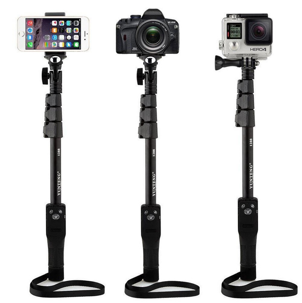 yunteng 1288 selfie sticks handheld monopod phone holder bluetooth shutter fo. Black Bedroom Furniture Sets. Home Design Ideas