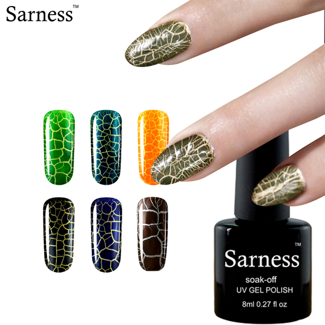 Sarness Grietas Esmalte de Uñas de Gel UV LED gel Laca Crujido ...