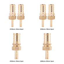 6mm-14/16/19/25mm Brass Fitting Hose Barb Tail Reducer Reducing Plug Male Connector Joint Copper Coupler Adapter 100% Brand New(China)