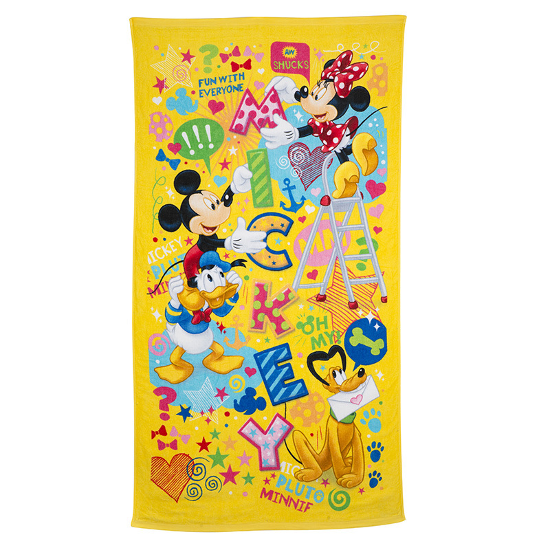 Disney Cartoon Animation Towels 150*82 Cm Licensed Products 3D Digital Printing New Fashion Fun Park Large Bath Towel