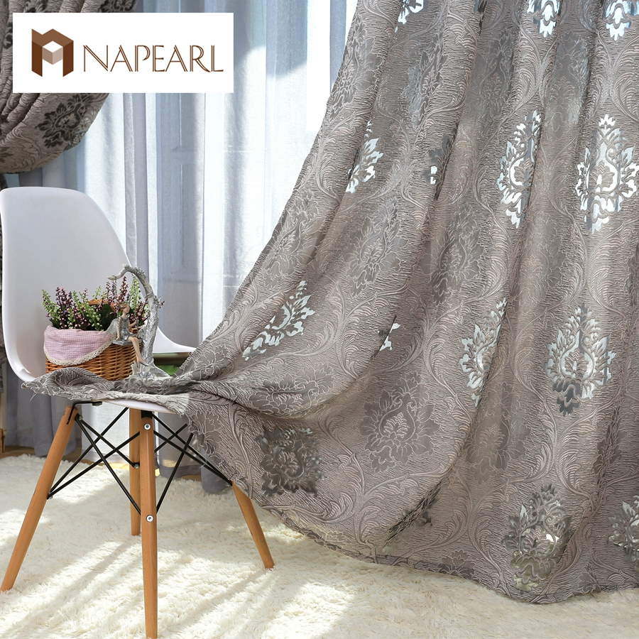 European style design jacquard curtain fabrics for window - European style curtains for living room ...