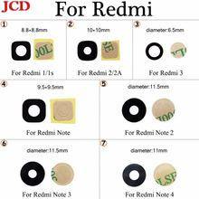 Jcd для xiaomi redmi 2 2a 3 note 4 стеклянный объектив задней