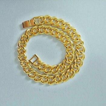 8d95362c4726 Starlord cadena para hombres collar de oro Vintage Color 6 MM 55 CM 22