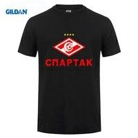 GILDAN new Russian premier league fc club Spartak Moscow T-Shirts Fashion Camiseta t shirt Glushakov O-Neck Cotton TeeShirt