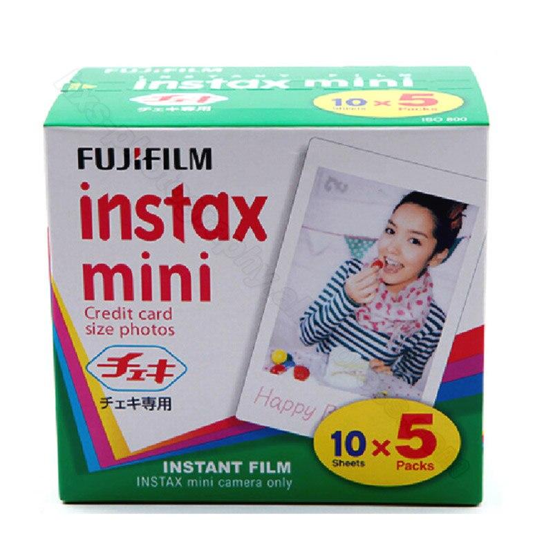 D'origine Fuji Fujifilm Instax Mini 9 Film 50 feuilles Blanc Bord Papiers Photo Pour Mini 9 8 7 s 90 25 55 partager SP-2 1 Appareil Photo Instantané
