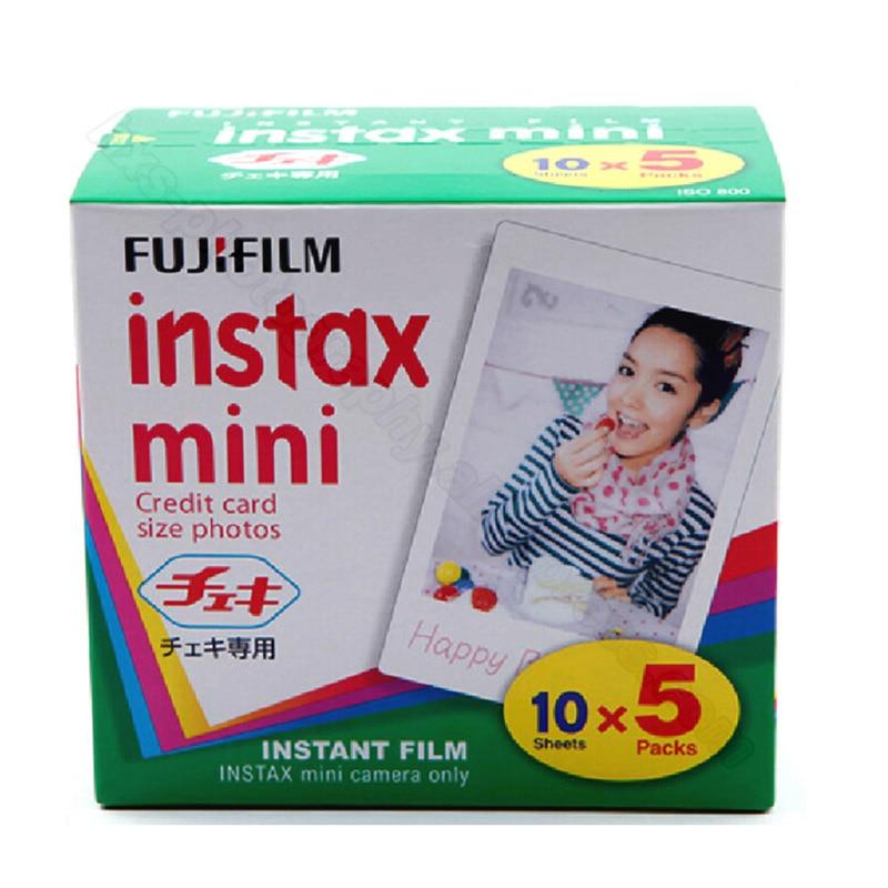 Original Fuji Fujifilm Instax Mini 9 Film 50 sheets White Edge Photo Papers For Mini 9