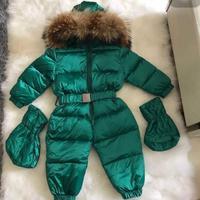 hot sale! 2017 winter jecket jumpsuits child heat snowsuit duck down outerward jumpsuit dress, baby boy winter coat