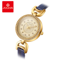 JULIUS Brand Women Watches Small Dial Cool Unusual Watches Ladies Gold Colour Hot Luxury Fashion Female