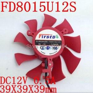 Free Shipping Firstd FD8015U12S DC BRUSHLESS FAN 12V 0.5A 75mm 39x39x39mm Graphics/Video Card Fan 2Pin