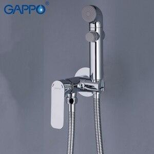 Image 3 - GAPPO G7248 1 + Y03 grifos de bidé, grifo de ducha musulmán, mezclador de bidé, pulverizador higiénico, montaje en pared de la Ducha, Shattaf