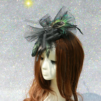 New Headdress Hair Accessories European and American Hairpin Black Veil Handmade Hair Band