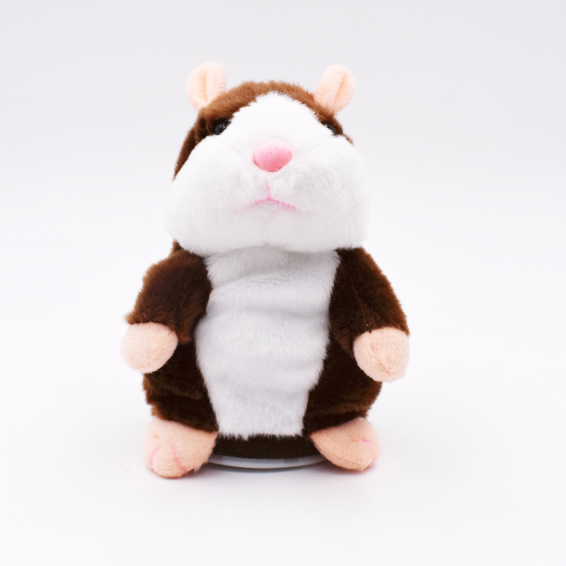 2017 615CM Talking Hamster Mouse Pet Plush Toy Hot Cute Speak Talking Sound Record Hamster Educational Toy for Children Gift