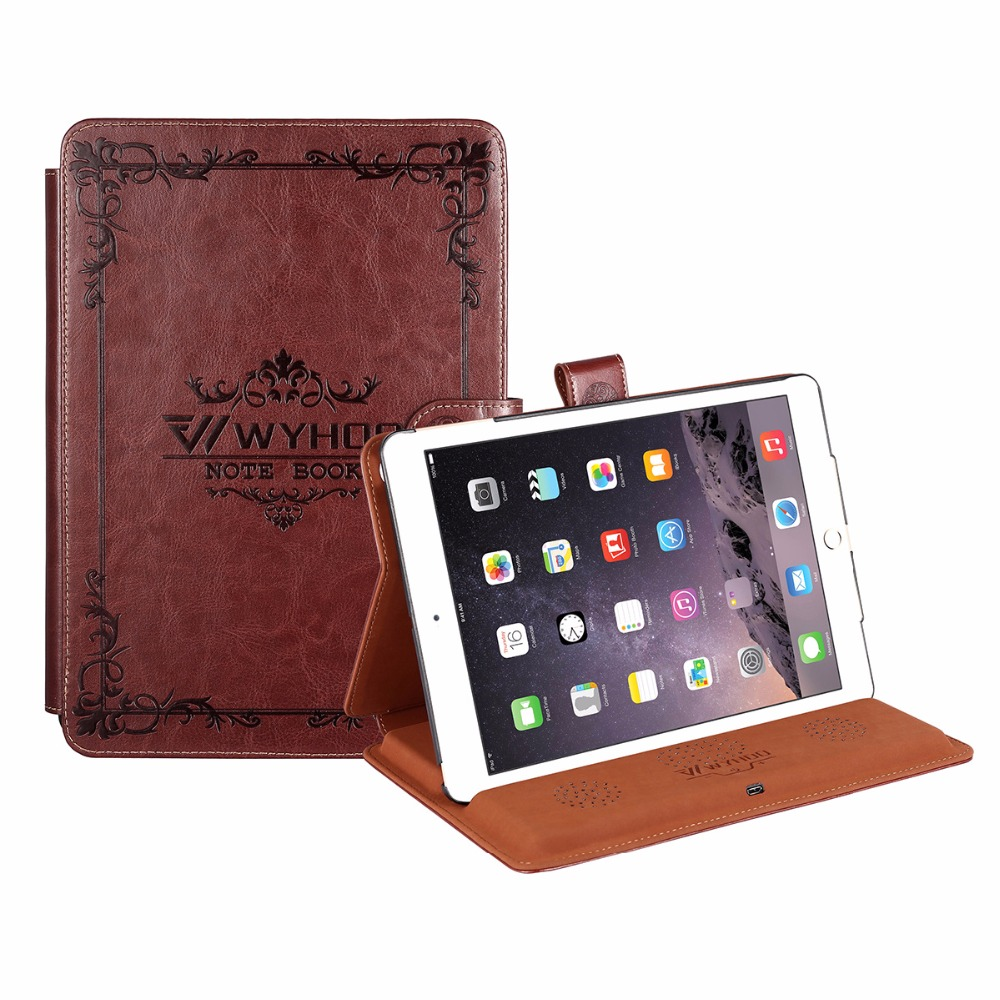 Fashion Bluetooth Wireless Stereo Speaker / Mobile Power bank / Protection Case for 9.7 inch iPad Air Air2 tablet pc