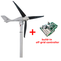 S 700 3 blades 12V/24V Power 400W marine type home vertical axis wind motor turbine generator with controller for wind system