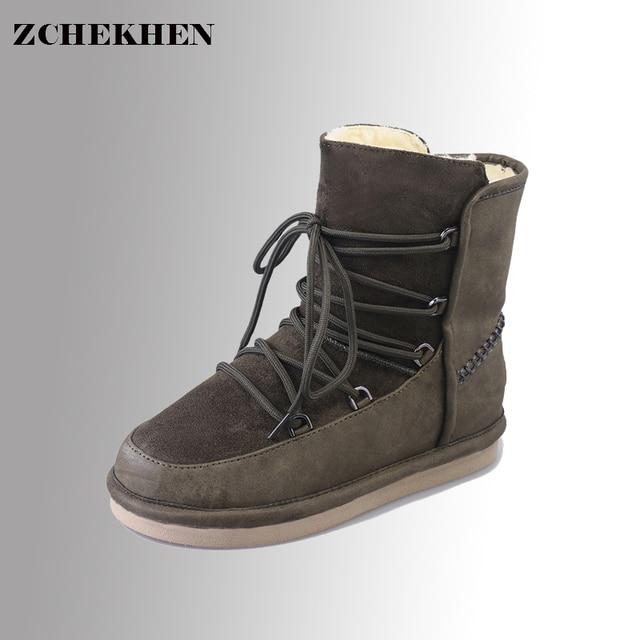 083ba97e2275 Australia Classic sapatos ugss Winter Boots Women Female feminino Suede  Warm fur Botas Short Snow Boots