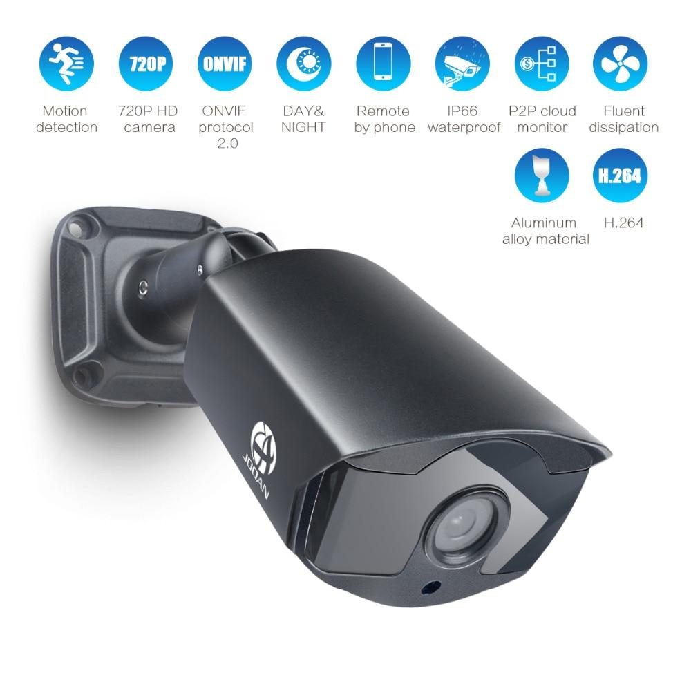 JOOAN 720 IP Caméra 1.0MP ONVIF Réseau CCTV Caméra de Sécurité Vidéo Surveillance Led IR Nuit Vision IP66 Extérieure