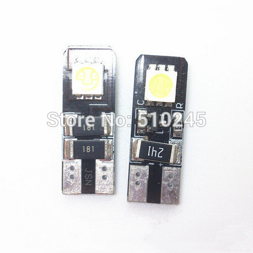 100X Car Auto LED T10 194 W5W Canbus 1 smd 5050 LED Light Bulb No error led light lamp free shipping