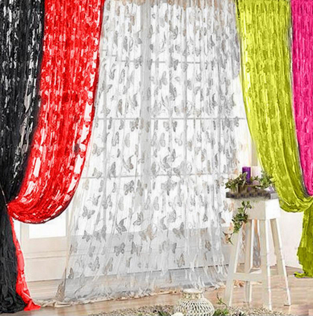 sheer valances window treatments linen new 2016 panel drape tassel thin butterfly sheer curtains valances window romantic voile