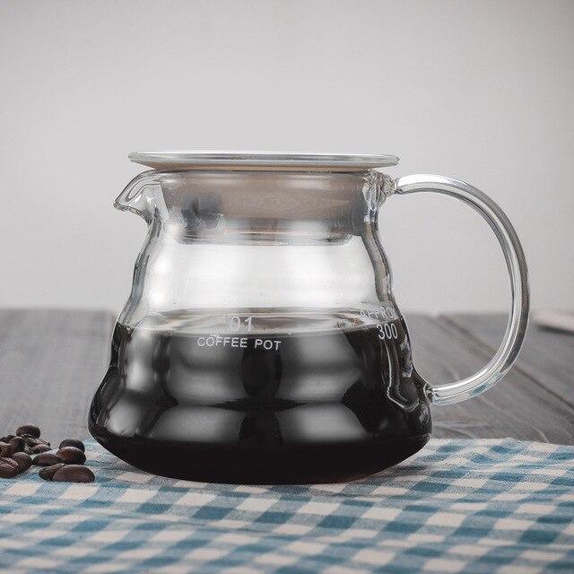 V60 Pour Over Glass Range кофейный сервер 360 мл 600 мл 800 мл карамельный капельный кофейник Brewer Barista Percolator Clear