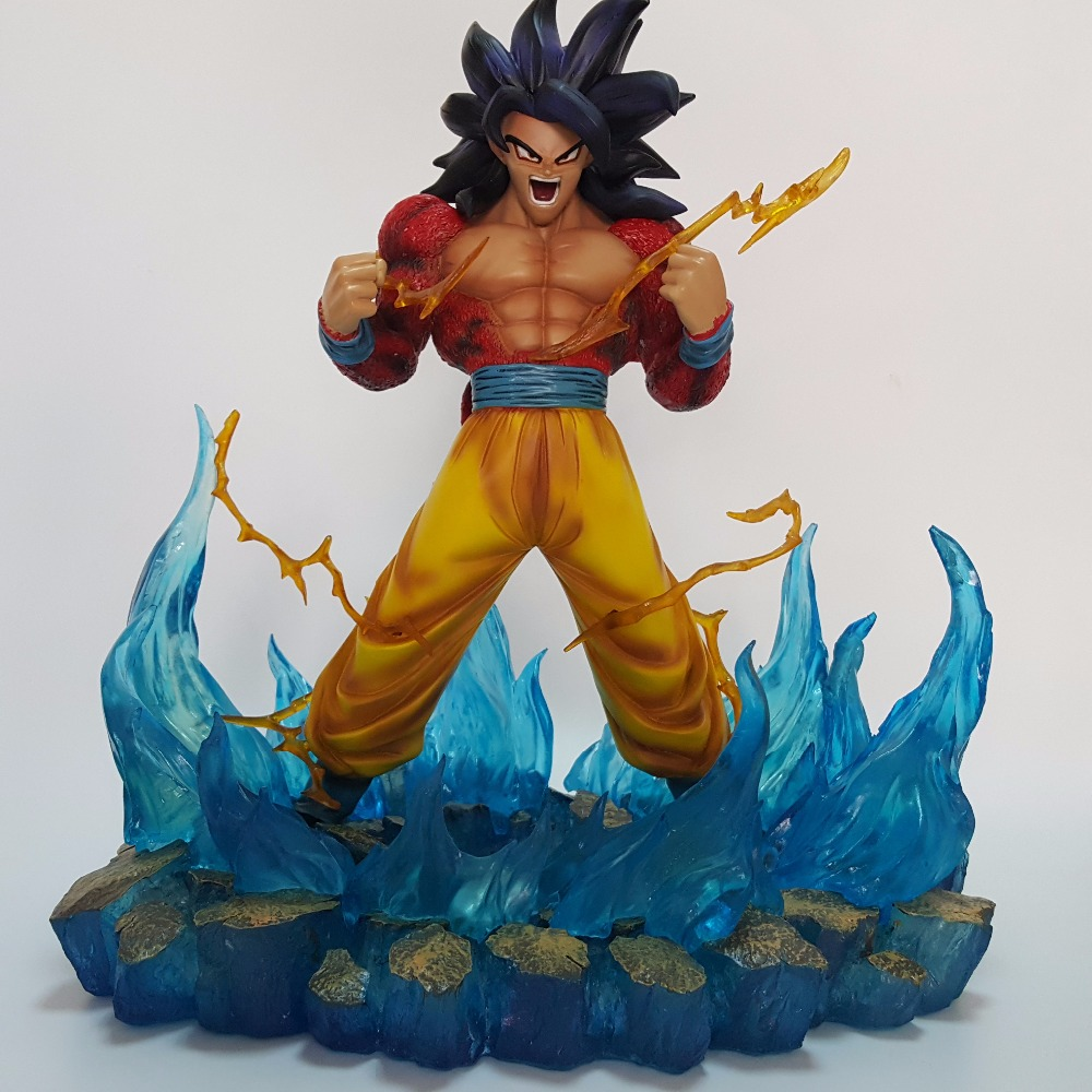 Dragon Ball Z Action Figures Son Goku Super Saiyan 4 Resin 330MM Collectible Model Toy Anime Dragon Ball Z Resine DBZ dragon ball z god goku super saiyan led light action figures anime dragon ball z dbz fes god son goku table lamp room decor