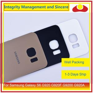 Image 3 - 50Pcs/lot For Samsung Galaxy S6 G920 G920F G9200 G920A Housing Battery Door Rear Back Glass Cover Case Chassis Shell Replacement
