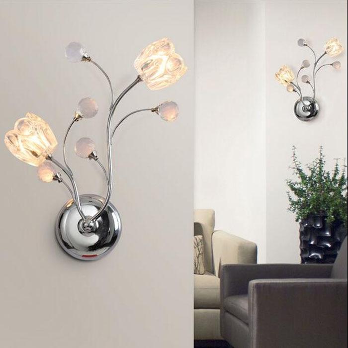 ZYY Modern Creative Crystal LED Wall Light Aisle Corridor Wall Lamp Bedroom Bedside Light European Warm Indoor Lighting Fixtures 180 days warranty 5j 07e01 001 100% original projector bare lamp for benq mp771 projectors