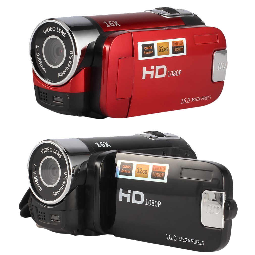 NOUVEAU 2.4 pouce Écran Full HD 1080 p Numérique TFT Caméra 16.0 Mega Pixels CMOS Capteur DV Avec LED Remplir lumière Vidéo Caméra Enregistreur