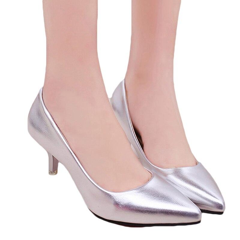 Mujeres punta estrecha tacones altos moda Sexy Zapatos mujeres ...