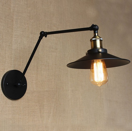 Loft Style Decorative Edison Wall Sconce Bedside Wall Lamp Industrial Vintage Long Arm Wall Light Fixtures For Home Lighting iwhd loft style edison wall sconce bedside lamp long arm industrial vintage wall light fixtures indoor lighting lamparas