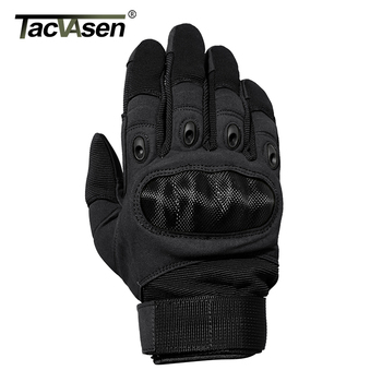 TACVASEN Tactical Gloves Men Army Paintball Gloves Mitten Armor Protection Shell Full Finger Gloves Military Airsoft Accessories 2