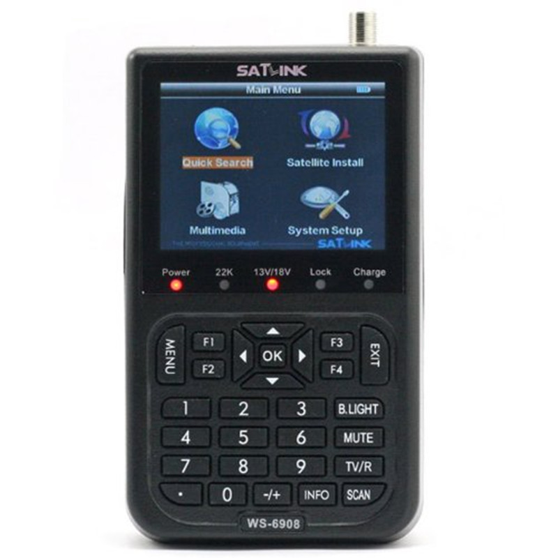 [Genuine] SATLINK WS-6908 Satellite TV Receiver Meter DVB-S FTA Digital Satellite Signal Finder 3.5 inch LCD Screen Support QPSK anewkodi original satlink ws 6906 3 5 dvb s fta digital satellite meter satellite finder ws 6906 satlink ws6906