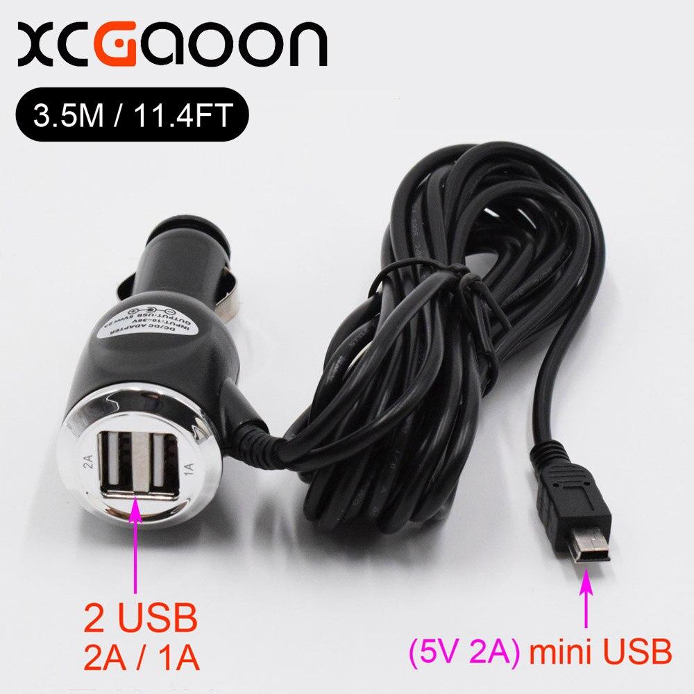 XCGaoon 3.5meter 5V 3A mini USB încărcător de mașină adaptor cu - Electronică Auto