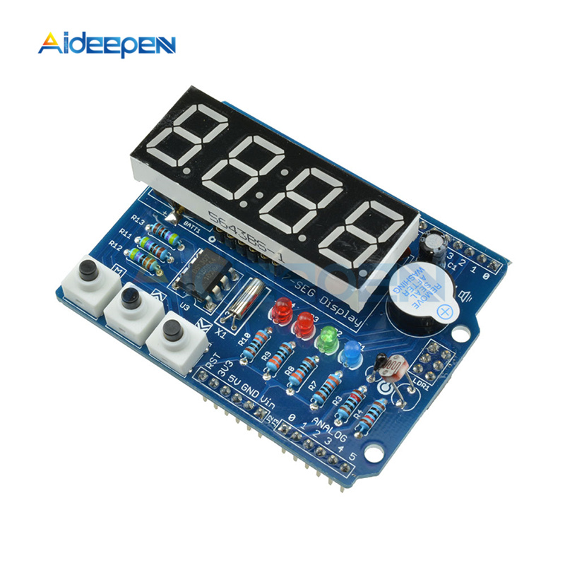 DC 5V DS1307 Real Time Clock Module Multifunction Expansion Board With LED 7-Segment Display 4-Digit Digital TM1636 For Arduino