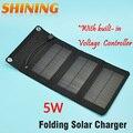 5.5 v 5 w portable folding painel solar charger carregador de bateria de saída usb com build-in controlador de tensão pack para celular psp mp4