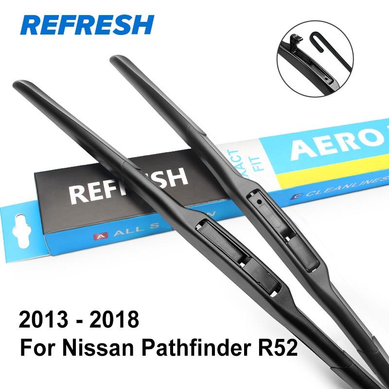 REFRESH Щетки стеклоочистителя для Nissan Pathfinder Fit Hook Arms 2005 2006 2007 2008 2009 2010 2011 2012 2013 - Цвет: 2013 - 2018 ( R52 )
