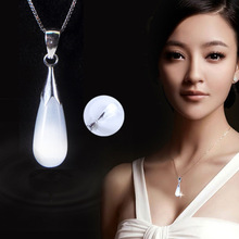 Fashion Jewelry Drop Cat-Eye Water Necklaces Pendant Natural Opal Moonstone for Women